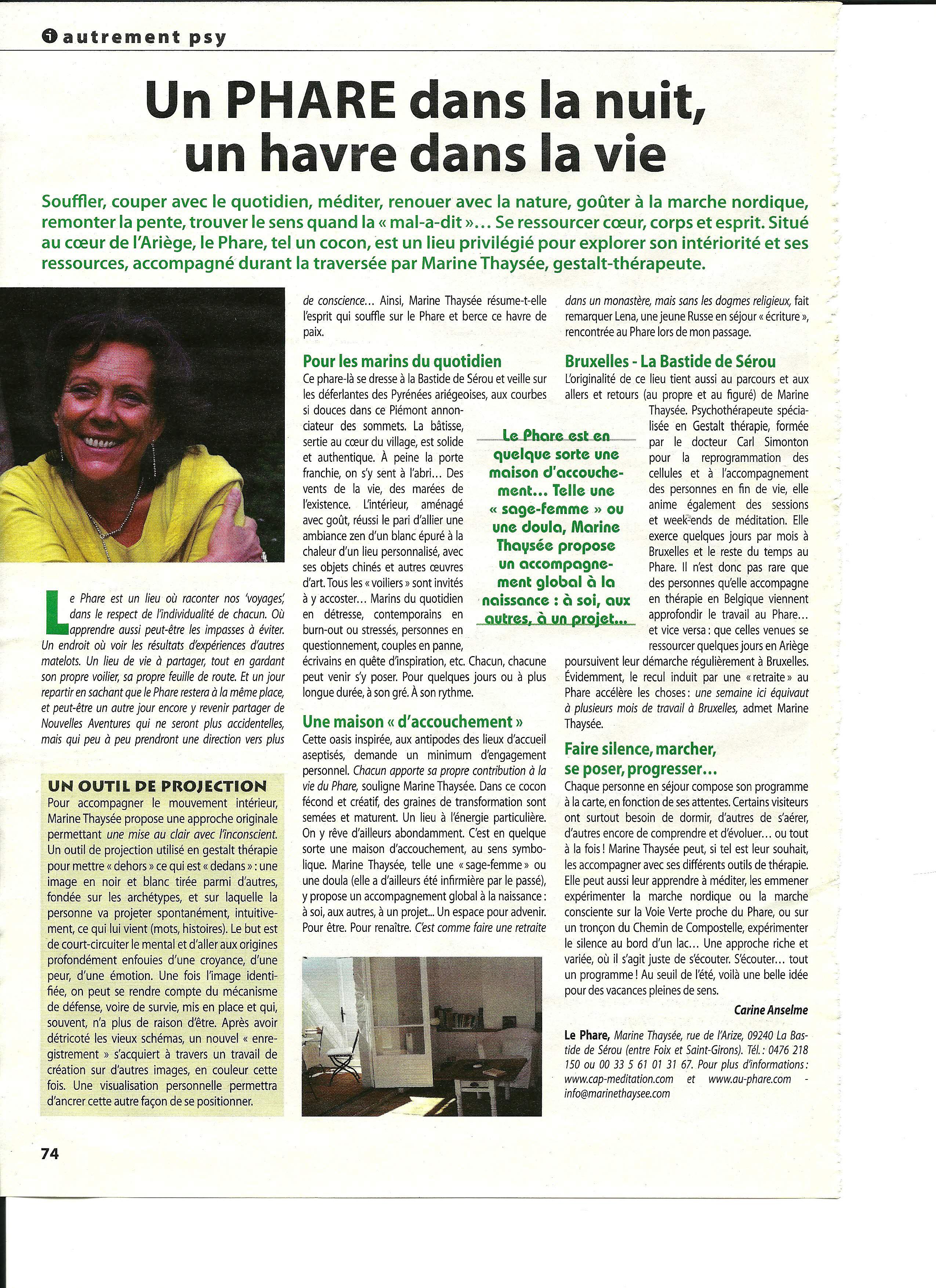 Article Bio-Info par Carine Anselme